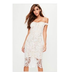 Missguided Dresses - Miss guided Ivory lace Dress